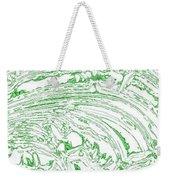 Vertical Panoramic Grunge Etching Sage Color Weekender Tote Bag