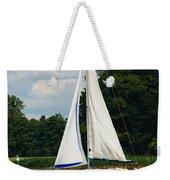 Vertical Sailboat Weekender Tote Bag