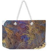 Vertical View Of Big Painted Canyon Trail In Mecca Hills-ca Weekender Tote Bag