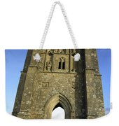Vertical View Of Glastonbury Tor Weekender Tote Bag