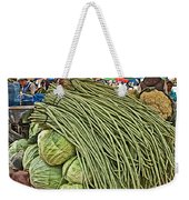 Very Long String Beans In Mangal Bazaar In Patan-nepal Weekender Tote Bag