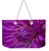 Very Pink Dahlia Weekender Tote Bag