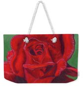 Very Red Rose Weekender Tote Bag
