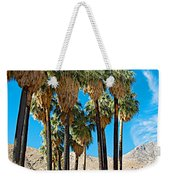 Very Tall Fan Palms In Andreas Canyon In Indian Canyons-ca Weekender Tote Bag