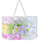 Very Tiny Wildflower Boquet Digital Paint Weekender Tote Bag