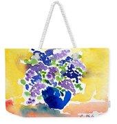Vase With Lilas Flowers Weekender Tote Bag