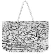 Vessels Of Early Spanish Navigators From The Narrative And Critical History Of American Weekender Tote Bag