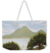 Vesuvius And Umbrella Pine Tree Weekender Tote Bag