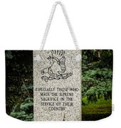 Veterans Memorial Weekender Tote Bag