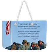 Veterans Remember Weekender Tote Bag by Carolyn Marshall