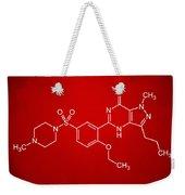 Viagra Molecular Structure Red Weekender Tote Bag