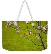 Vibrant Pink Magnolia Blossoms Weekender Tote Bag