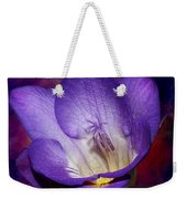Vibrant Purple Flower Weekender Tote Bag