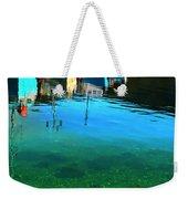 Vibrant Reflections -water - Blue Weekender Tote Bag