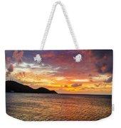 Vibrant Tropical Sunset Weekender Tote Bag