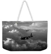 Vickers Wellingtons No 75 Squadron Black And White Version Weekender Tote Bag