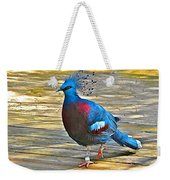 Victoria Crowned Pigeon In San Diego Zoo Safari In Escondido-california Weekender Tote Bag
