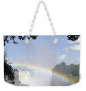 Victoria Falls Rainbow Weekender Tote Bag