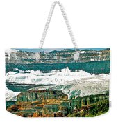Victoria Glacier From Plain Of Six Glaciers Trail In Banff Np-ab Weekender Tote Bag