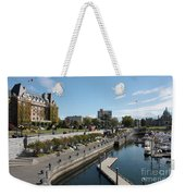 Victoria Harbour With Empress Hotel Weekender Tote Bag