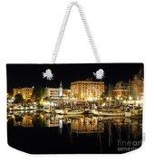 Victoria Inner Harbour At Night Weekender Tote Bag