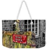 Victorian Boat Dock Sign Weekender Tote Bag by Adrian Evans