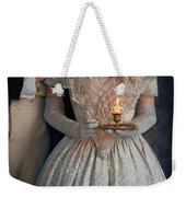 Victorian Couple At Night With Candle Weekender Tote Bag