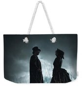 Victorian Couple Face On Another Before A Stormy Sky Weekender Tote Bag
