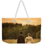 Victorian Couple In A Summer Meadow Weekender Tote Bag