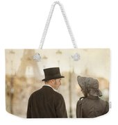 Victorian Couple In Paris Weekender Tote Bag