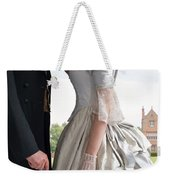 Victorian Couple In The Grounds Of A Country House Weekender Tote Bag