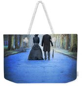 Victorian Couple In The Park At Dusk Weekender Tote Bag