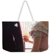 Victorian Couple Looking Out Of A Window Weekender Tote Bag