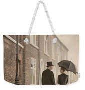 Victorian Couple On A Cobbled Street Weekender Tote Bag