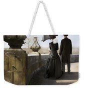 Victorian Couple Walking In The Grounds Weekender Tote Bag