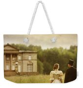 Victorian Couple Walking Towards A Country Manor House Weekender Tote Bag