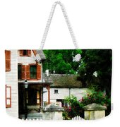 Victorian Home With Open Gate Weekender Tote Bag