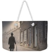 Victorian Man On A Cobbled Street Weekender Tote Bag