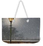 Victorian Street Lamp In Snow Weekender Tote Bag