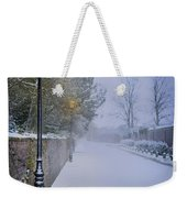 Victorian Winter Street Scene Weekender Tote Bag