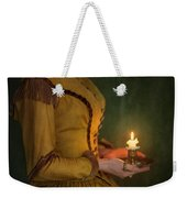 Victorian Woman Holding A Candle Weekender Tote Bag