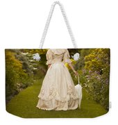 Victorian Woman In A Formal Garden Weekender Tote Bag