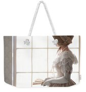 Victorian Woman In Profile At A Window Weekender Tote Bag