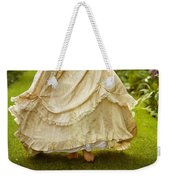 Victorian Woman Running On A Summer Lawn Weekender Tote Bag