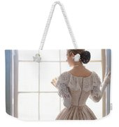 Victorian Woman Standing At The Window Weekender Tote Bag