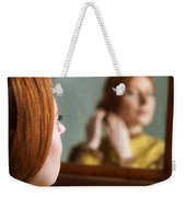 Victorian Woman Using A Dressing Table Mirror  Weekender Tote Bag