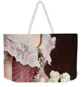 Victorian Woman With Roses Weekender Tote Bag