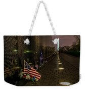 Vietnam Veterans Memorial At Night Weekender Tote Bag