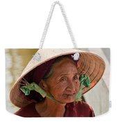 Vietnamese Lady Weekender Tote Bag