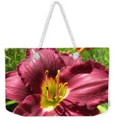 Viette's Daylily. Dark Purple 01 Weekender Tote Bag